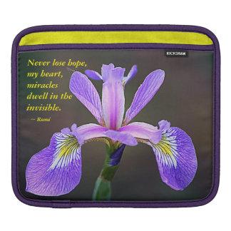Iris pourpre et Rumi Poche iPad