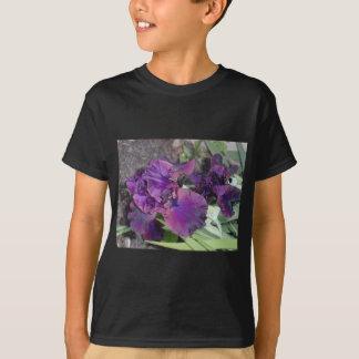 iris pourpre foncé tee shirts