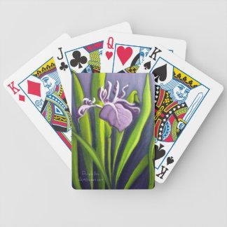 Iris pourpre jeux de 52 cartes