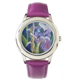 Iris pourpre montres cadran