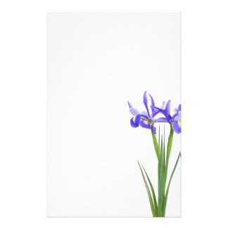 Iris pourpre papier à lettre personnalisable