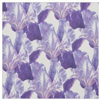 Iris pourpre peignant le motif botanique d'art tissu