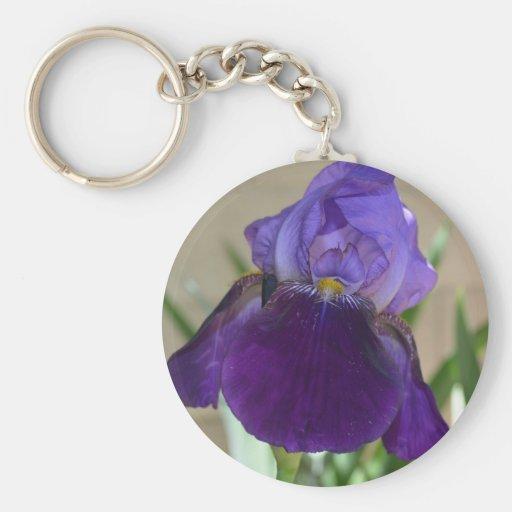 Iris pourpre porte-clés