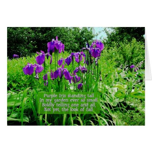 Iris pourpre se tenant grand carte