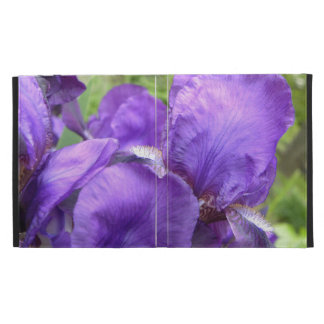 Iris pourpres en fleur coque folio iPad