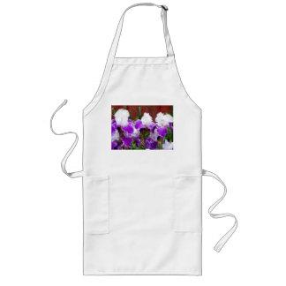 Iris pourpres et blancs tablier