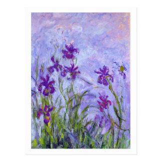 Iris pourpres par Claude Monet Carte Postale