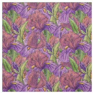 Iris pourpres tissu