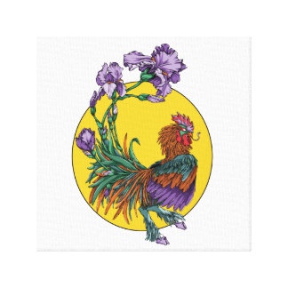 Iris Rooster Canvas Print
