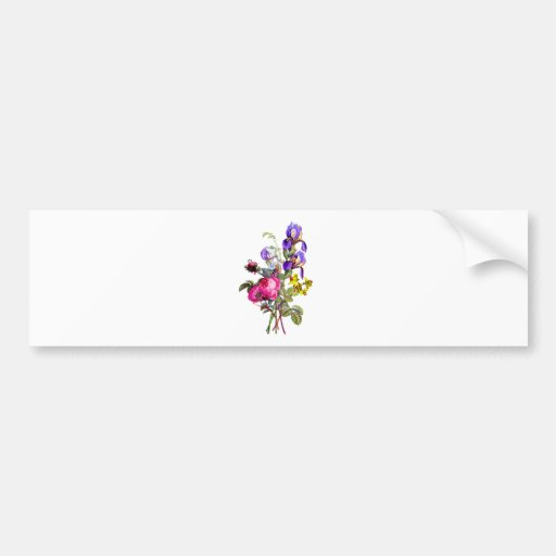 Iris, Rose, and Narcissus Bouquet by Prevost Bumper Sticker