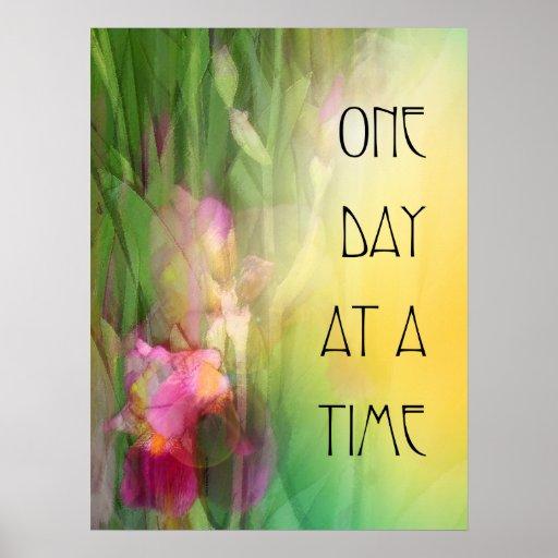 Iris roses et rouges d'un jour à la fois posters