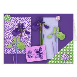 Iris Scrapbook Birthday Card (Large Print)
