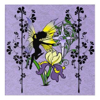 Iris Shadow Fairy Acrylic Wall Art