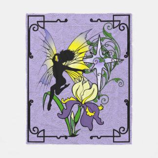 Iris Shadow Fairy Fleece Blanket