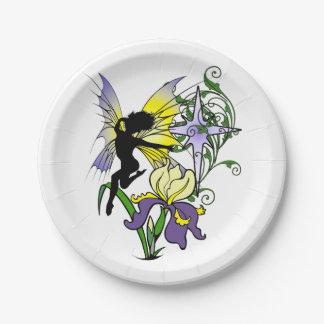 Iris Shadow Fairy Paper Plate