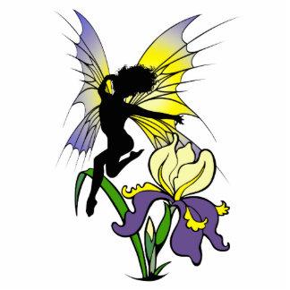 Iris Shadow Fairy Standing Photo Sculpture