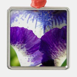 Iris Unfolding Metal Ornament