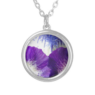 Iris Unfolding Silver Plated Necklace
