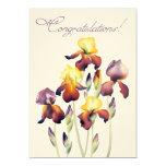 """Iris Watercolor 5"""" X 7"""" Invitation Card"""