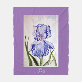 Iris watercolor baby blanket