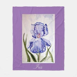 Iris watercolor baby blanket