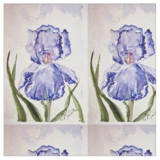 Iris Watercolor painting Fabric