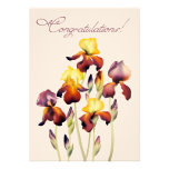 Iris Watercolor Personalized Announcement