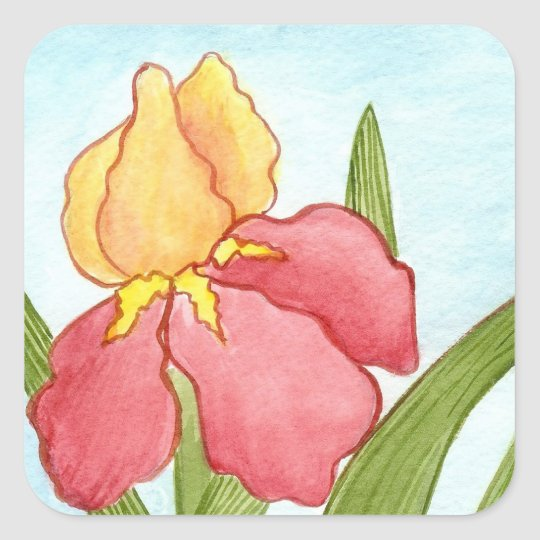 Iris Watercolor Sticker