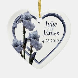 Iris Wedding Favor Ceramic Ornament