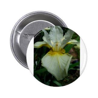 Iris White 2 Inch Round Button