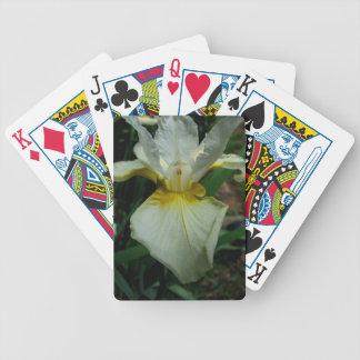 Iris White Bicycle Playing Cards