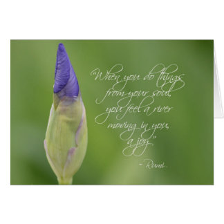 Iris with Quote Card