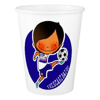 IRISCA&IBAIGO Glass soccer Paper Cup