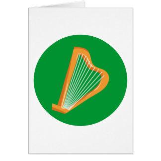 Irische Harfe Irish harp Card