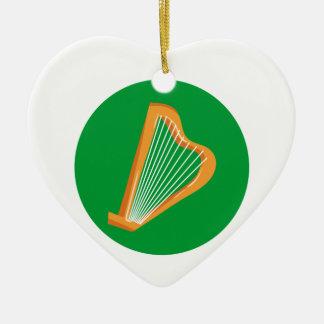 Irische Harfe Irish harp Ceramic Ornament