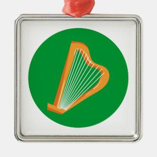 Irische Harfe Irish harp Metal Ornament