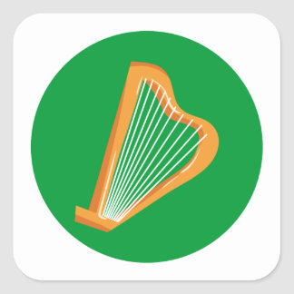 Irische Harfe Irish harp Square Sticker