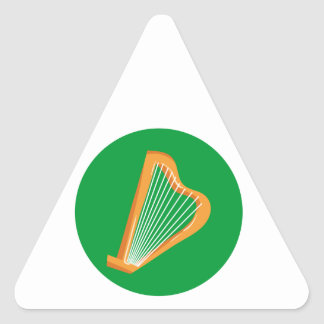 Irische Harfe Irish harp Triangle Sticker