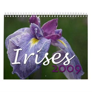 Irises 2009 calendars