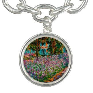 Irises At Giverny Claude Monet Charm Bracelet
