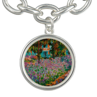 Irises At Giverny Claude Monet Charm Bracelets
