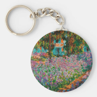 Irises At Giverny Claude Monet Keychain