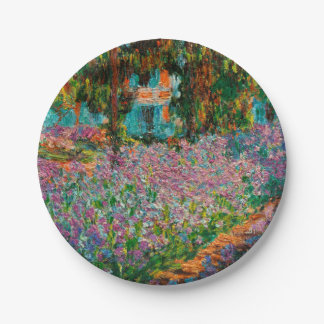 Irises At Giverny Claude Monet Paper Plate