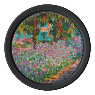 Irises At Giverny Claude Monet Poker Chips