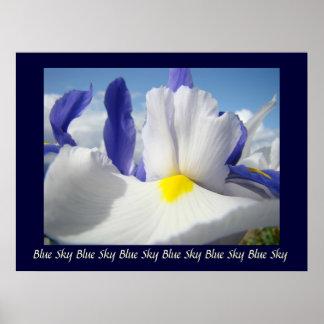 Irises Blue Sky art print Healing Touch Nursing