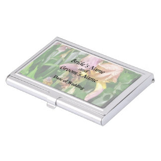 Irises By Picket Fence Business Card Holder