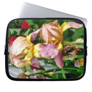 Irises By Picket Fence Laptop Sleeve
