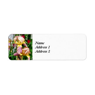 Irises By Picket Fence Save the Date Return Address Label