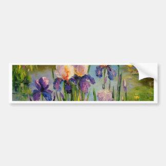 Irises by the river bumper sticker