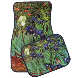 Irises by Van Gogh Fine Art Vintage Car Mats Car Carpet